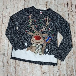 Holiday Time Reindeer holiday pullover womens S